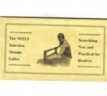 Advertisement for an asbestos shingle cutter