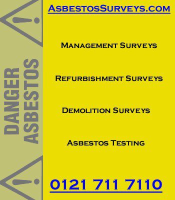 Asbestos Surveys by qualified asbestos surveyors and chartered building surveyors