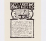 Asbestos dining table pad