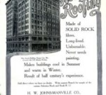 Johns Manville asbestos roofing advertisement